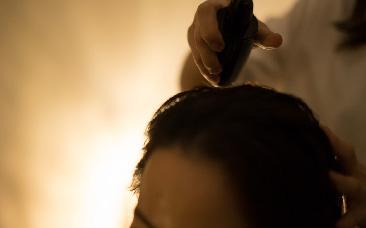 塗る漢方アロマヘッドスパ 施術の流れ